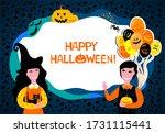 happy halloween. greeting card. ...   Shutterstock .eps vector #1731115441