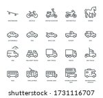 road transport icons  side view....   Shutterstock .eps vector #1731116707
