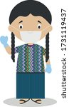 character from guatemala... | Shutterstock .eps vector #1731119437
