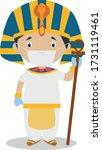 character from  egypt dressed... | Shutterstock .eps vector #1731119461