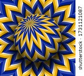 optical illusion hypnotic...   Shutterstock .eps vector #1731121087