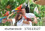 Young Couple With Tropical...