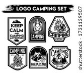 camping and hiking logo design  ... | Shutterstock .eps vector #1731139507