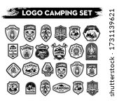 camping and hiking logo design  ... | Shutterstock .eps vector #1731139621