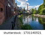 Old town and Brda river in Bydgoszcz, Poland