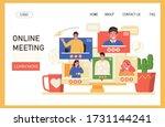 video conference vector...   Shutterstock .eps vector #1731144241
