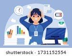 badmood girl flat design...   Shutterstock .eps vector #1731152554