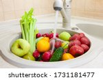 Washing Fruits And Vegetables...