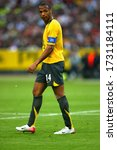 Small photo of Paris, FRANCE - May 17, 2006: Thierry Henry looks on during the UEFA Champions League final 2005/2006 FC Barcelona v Arsenal FC at the Stade de France.