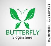 green butterfly leaf template... | Shutterstock .eps vector #1731204691