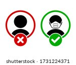 face mask must be worn or no... | Shutterstock .eps vector #1731224371