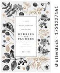 hand drawn berries greeting... | Shutterstock .eps vector #1731227161