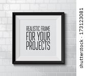realistic frame. perfect for... | Shutterstock .eps vector #173123081
