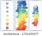 chakras symbol on color...   Shutterstock .eps vector #1731254377
