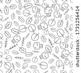 vintage seampless pattern with... | Shutterstock .eps vector #1731256414
