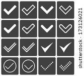 set of icons  ticks  check...