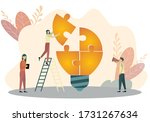 office people work together... | Shutterstock .eps vector #1731267634