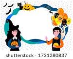 happy halloween. frame isolated ...   Shutterstock .eps vector #1731280837