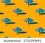 Seamless Umbrella Summer Beach...