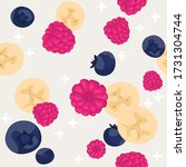 seamless pattern with berries.... | Shutterstock .eps vector #1731304744