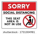 do not sit sign.do not seat... | Shutterstock .eps vector #1731304981