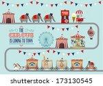 circus fun fair fairground... | Shutterstock .eps vector #173130545