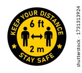 keep your distance stay safe... | Shutterstock .eps vector #1731313924