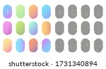 fingerprint icons  finger... | Shutterstock .eps vector #1731340894