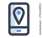 mobile location icon  map and...
