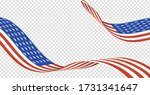 american usa flag set isolated... | Shutterstock .eps vector #1731341647