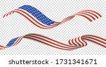 american usa flag set isolated... | Shutterstock .eps vector #1731341671