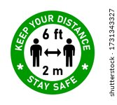 keep your distance stay safe... | Shutterstock .eps vector #1731343327