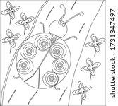 Isolated Cartoon Ladybug. Black ...