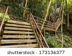 Concrete Stair In The Khao Yai...
