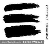 set of hand drawn grunge brush...   Shutterstock .eps vector #173138615