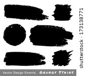 set of hand drawn grunge... | Shutterstock .eps vector #173138771