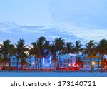 miami beach  florida  hotels...   Shutterstock . vector #173140721