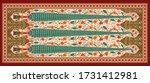 decorative mughal motif   stole ... | Shutterstock .eps vector #1731412981
