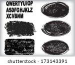 set of grunge stamp  | Shutterstock .eps vector #173143391