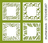 set of square frames with... | Shutterstock .eps vector #1731438187