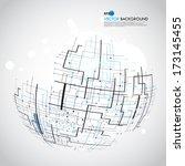 space vector light | Shutterstock .eps vector #173145455