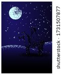 the mysterious nighthorseman.... | Shutterstock .eps vector #1731507877