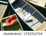 Rowboats at dock  with life...