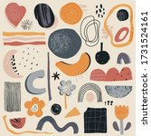 vector collection of abstract... | Shutterstock .eps vector #1731524161