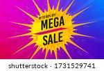 mega sale badge. flare light... | Shutterstock .eps vector #1731529741