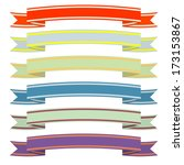 a set of ribbons. | Shutterstock . vector #173153867