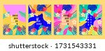 summer tropical covers... | Shutterstock .eps vector #1731543331