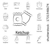 fast food ketchup outline icon. ...