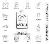 fast food menu outline icon....