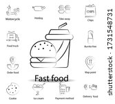 fast food food outline icon....